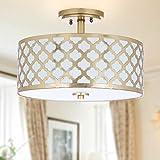 Safavieh Collection Kora Quatrefoil 3 15' Flush Mount Light, Gold