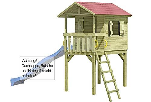 Gartenpirat Stelzenhaus Justin aus Holz mit TÜV (Anbau Einer Rutsche möglich)