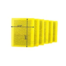 Rayair supply 20x20 micropower guard air cleaner replacement filter pads (6 pack) yellow 1 free shipping six (6 changes) fiberglass media pads with activated carbon center per order. Replacement media designed to fit micropower guard 20x20 air cleaner.