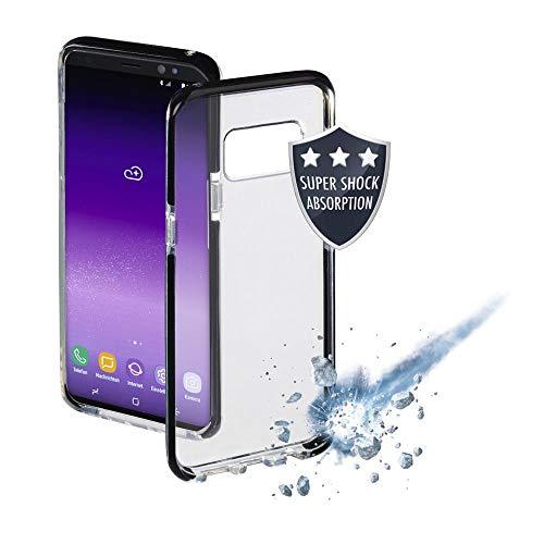 Hama Schutzhülle Protector (für Apple iPhone XR, Wireless Charging, stoßfest, rutschfeste Oberfläche aus Termoplastischem Polyurethan (Put) transparent/schwarz