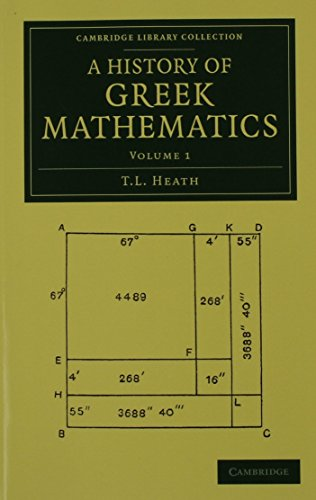 A History of Greek Mathematics 2 Volume Set (Cambridge Library Collection - Classics)