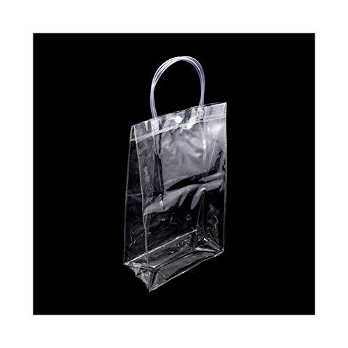 JINSUO NWXZU Eco Bag 1Pc della radura di Modo Tote Bag Trasparente Shopping Bag Donna Borsa Durevole (Color : Transparent, Size : XL -)