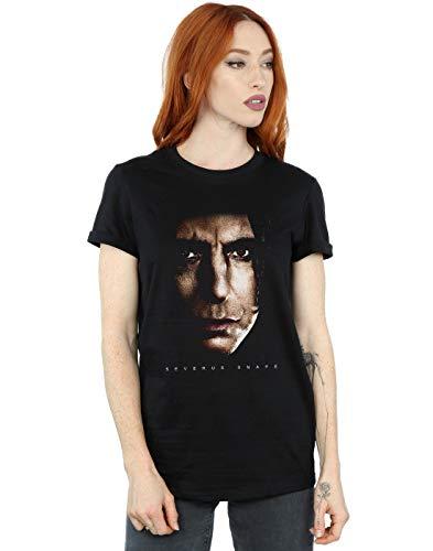 Harry Potter Damen Severus Snape Portrait Boyfriend Fit T-Shirt Schwarz Medium