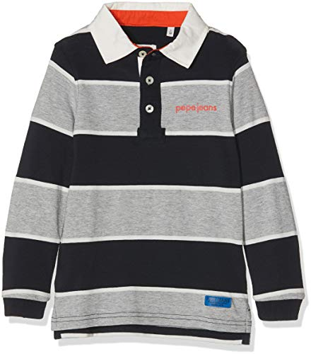 Pepe Jeans Jungen Pierre Jr Poloshirt, Mehrfarbig (Multi Blau 0Aa), 10 Jahre