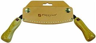 FLEXCUT 5 inch Draw Knife, High Carbon Steel Blade, Ergonomic Ash Handle, Leather Sheath..
