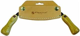 Flexcut 5 inch Draw Knife, High Carbon Steel Blade, Ergonomic Ash Handle, Leather Sheath Included (KN16)