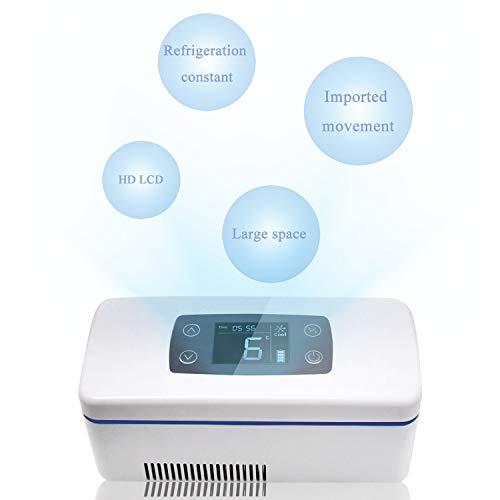 CGOLDENWALL Refrigerador de Medicamento Ultra Silencioso Nevera de Insulina Portátil de Tamaño 175x60x26mm丨con Temperatura Constante: 2-8℃丨de Fuente de Alimentación Multimodo (de 12 Horas)