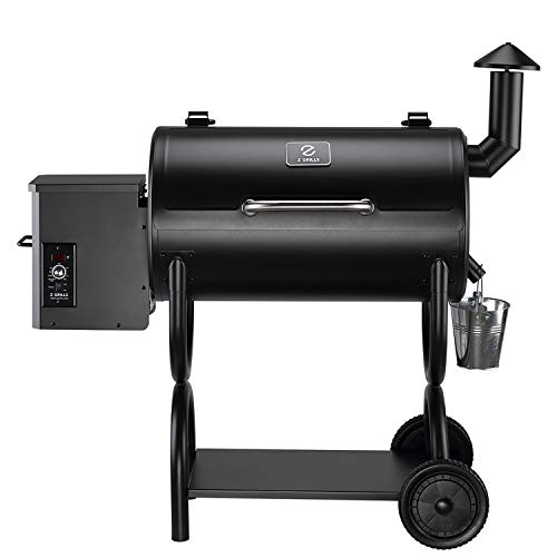 Z GRILLS 550SQ.in. Wood Pellet Grill BBQ Smoker, 2020 Upgrade, 8-in-1 &...