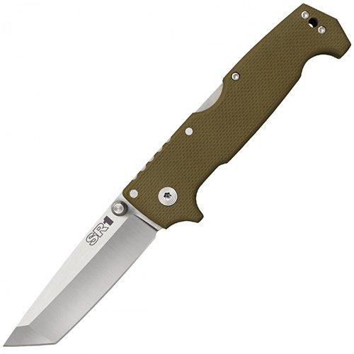 Cold Steel SR1 Tanto Couteau Pliant Adulte Unisexe, Tan, 102mm