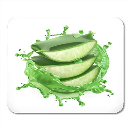 Mouse Pads Green Vera Aloe Juice Health and Care 3D White Mouse Pad for notebooks, Desktop Computers mats Office Supplies