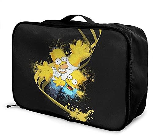 Anime Cartoon Simpsons Viaggio Duffel Bag Pieghevole Moda Leggero Grande Capacità Portatile Borse Bagagli Cabina Holdall Viaggio Volo Borsa Tote Carry on Bagagli