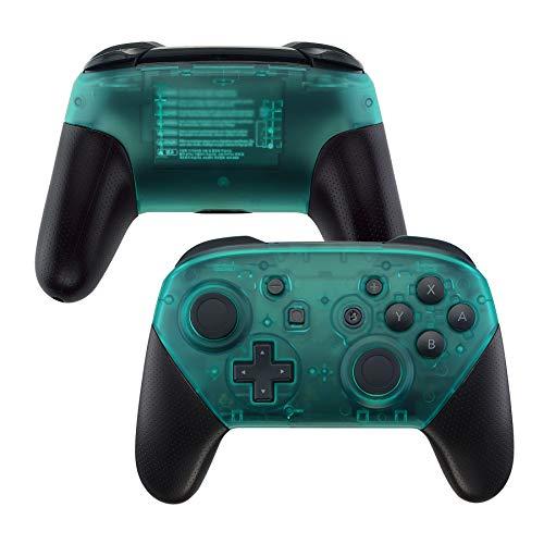 eXtremeRate Case für Nintendo SwitchPro Controller,Hülle Schale Gehäuse Grip Case Griffe Ersatzteile für Nintendo SwitchPro Controller-Kein Controller(Smaragdgrün)