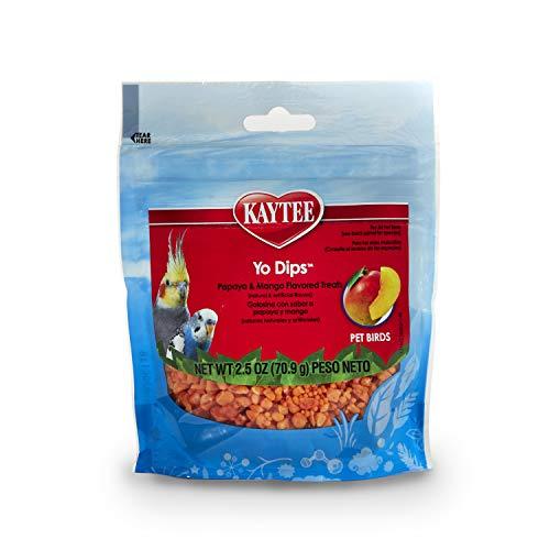 Kaytee Mango Flavored Yogurt Dipped Papaya Treats For All Pet Birds, 2.5-Oz Bag