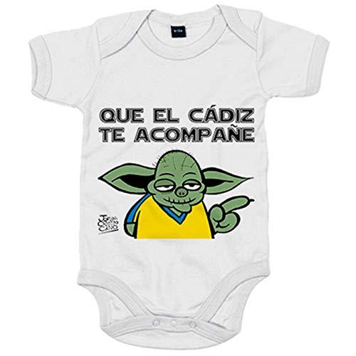 Body bebé que el Cádiz te acompañe ilustrado por Jorge Crespo Cano - Blanco, Talla única 12 meses