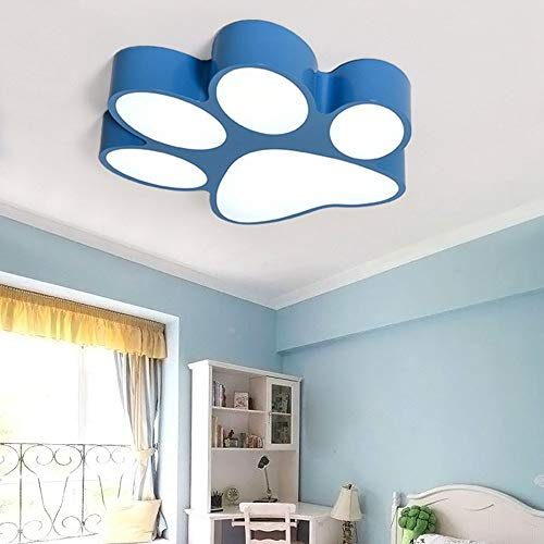 Plafondlamp - schattig cartoon-design LED Kids Room plafondlamp Tricolor Dimming Iron Shop Huisdier creatieve plafondverlichting (kleur, grootte te kiezen) - Home Warm Ceiling (Kleur: Blauw - 45 cm)