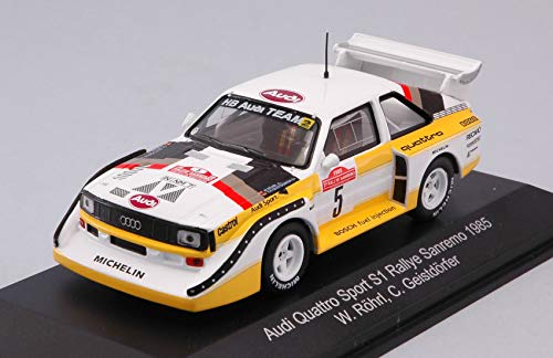 per AUDI QUATTRO S1 N.5 WINNER RALLY SANREMO 1985 W.ROHRL-C.GEISTDORFER 1:43 - CMR Classic Model Replicars - Auto Rally - Die Cast - Modellino