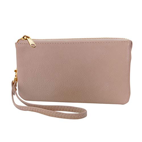 Humble Chic Vegan Leather Wristlet Wallet Clutch Bag - Small Phone Purse Handbag for Women