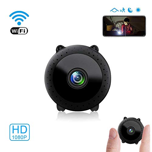 Mini Kamera Wireless-Kamera,MECKILY mühelos WiFi Full HD 1080P tragbare Nanny-Kamera mit Nachtsicht und Bewegungserkennung, Fernansicht mit Handy-App iPhone/Android/iPad/PC (Cartoon-Typ)