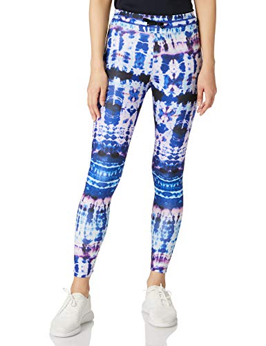 Desigual Legging Tull Tiedye Pantalones Informales, Azul, XL para Mujer