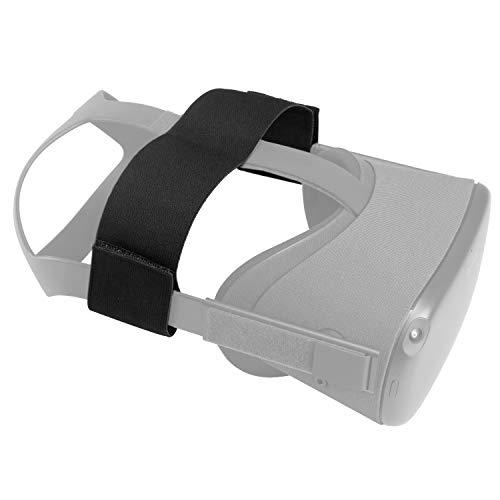 NEWZEROL Stretch Belt Kompatibel für VR Oculus Quest Kopfband Stirnband für VR Headset - Schwarz