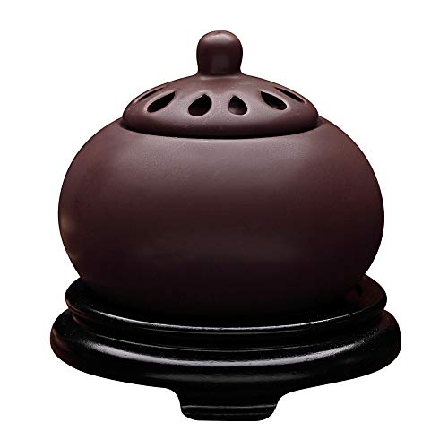 RXBFD Timing Temperature Control Purple Sand Incense Burner,Electronic Ceramic Aromatherapy Furnace,Agarwood Essential Oil Electric Diffuser Home Porcelain,Balcony,Porch,Patio,Garden Essential