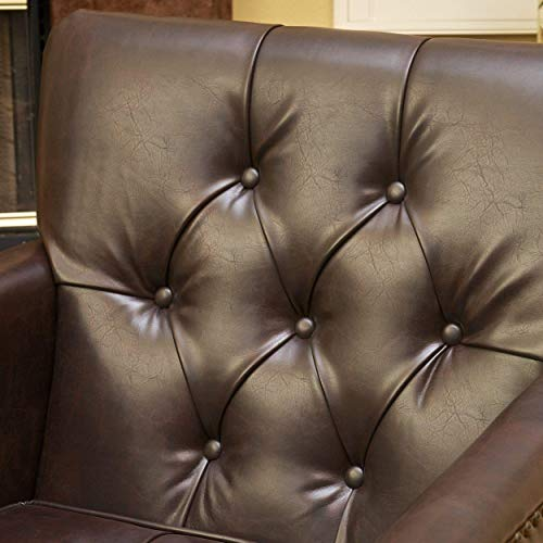 Best Selling Murphy Leather Club Chair, Brown