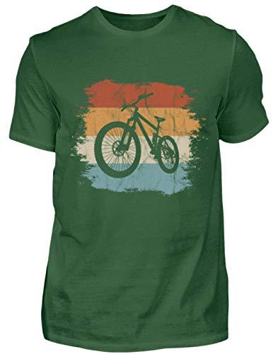 Retro Vintage Style MTB - Cooles Mountainbike mit Grunge-Effekt für Biking Fahrrad Fans - Herren Shirt -XXL-Dunkelgrün