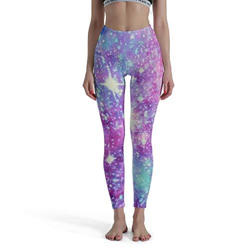 JEFFERS High Waist Soft Sportleggings Yoga Pants dames glitter Galaxie loopbroek broek broek voor hardlopen en andere activiteiten
