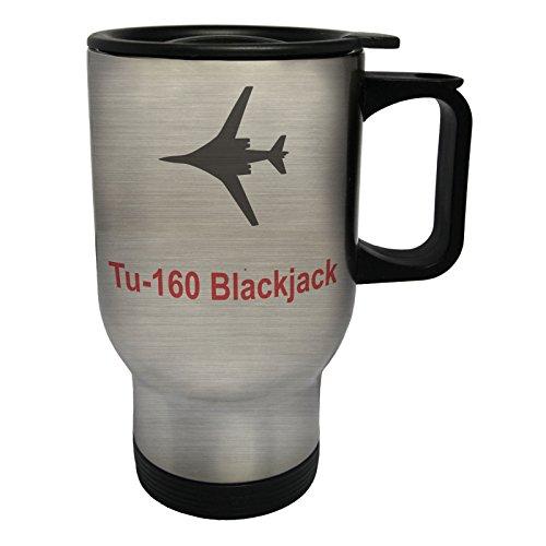 INNOGLEN tu-160_Blackjack Fire Jet Plane Pilot Jet Vintage Tasse de Voyage Thermique en Acier Inoxydable 14oz 400ml c651ts
