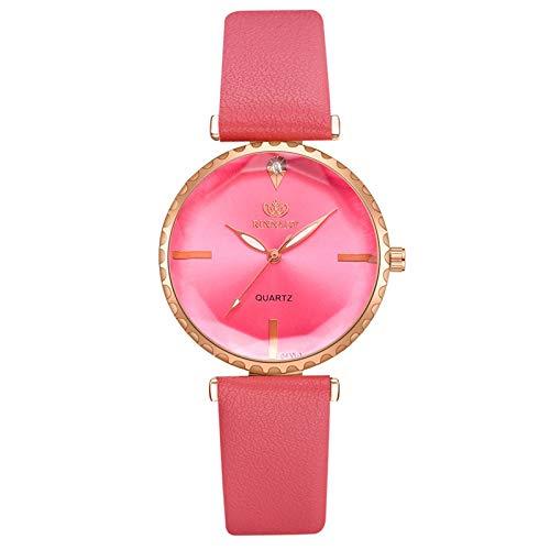 JZDH Women Watches QUARTZ Fashion Trend Casual Party Ladies Exquisite Quartz Watch Wristwatch Ladies Bracelet Watch Casual Ladies Girls Casual Decorative Watches (Color : Red)