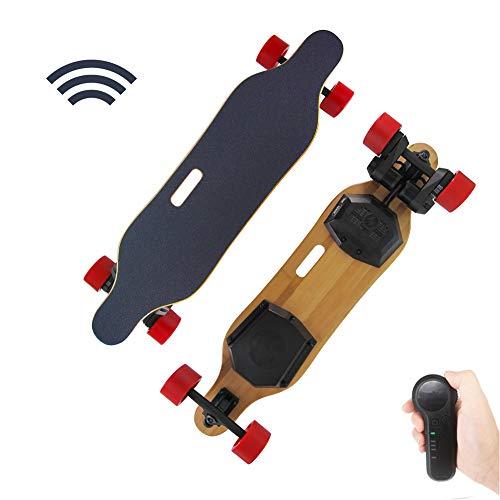 AFYH Elektrische Longboard, Elektro Skateboard 8000mAh Lithiumbatterie mit großer Kapazität / 900W * 2 Hochleistungsmotor, 25,2V Modestraßenfernsteuerungsroller, Geschwindigkeit bis zu 28km / h