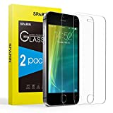 SPARIN [2-Pack] Protector Pantalla iPhone SE 2020, Cristal Templado iPhone SE 2020, Vidrio Templado [Sin Cobertura Toda Pantalla] [9H Dureza] [Alta Definicion]