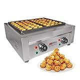 ALDKitchen Double Takoyaki Grill | Electric Takoyaki Machine | No plug | 56 Pcs | Nonstick | Stainless Steel | 110V