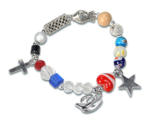 Christliche Geschenkideen °° Armband Das Leben Jesu für Jugendliche & Erwachsene (20cm)