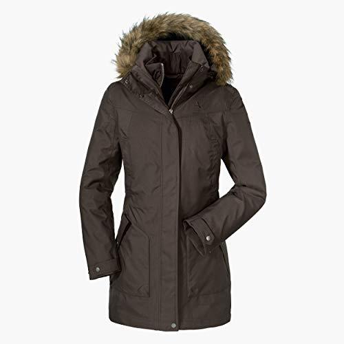 Schöffel Damen 3in1 Jacket Genova2 wasserdichte Winterjacke mit herausnehmbarer Inzip Innenjacke, atmungsaktive Regenjacke mit 2-Wege-Stretch, shale, 44 (XL)