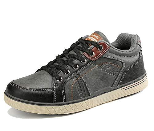 ARRIGO BELLO Freizeitschuhe Herren Sneakers Schuhe Wanderschuhe Walkingschuhe Berufsschuhe Sportschuhe Outdoor Leichtgewicht Größe 41-46(Dk Grau, Numeric_42)