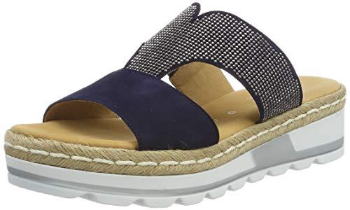 Gabor Shoes Damen Comfort Sport Riemchensandalen, Blau (Bluette (Jute) 36), 37.5 EU