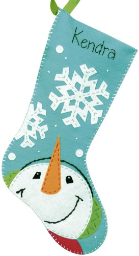 Dimensions Crafts Felt Applique Stocking, Catching Snowflakes