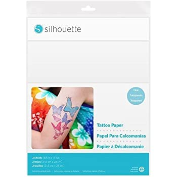 Silhouette America Temp Tattoo Paper, 8.5x11 Inches, Basic