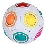 Desire Sky Puzzle Balls Magic Rainbow Ball Cube Rolling 3D Puzzle Juguetes educativos Cube 3D Puzzle Twist Toy Rompecabezas Juguete de Regalo para niños