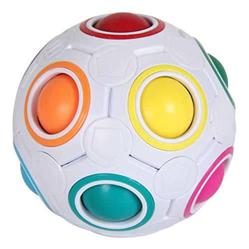 Magic Ball Puzzle Rainbow Ball, Fidget Ball Rainbow Puzzle Cube Fidget Toy Alivio del estrés Autismo Regalos Juguetes, Puzzle Cube 3D Puzzle Juguetes educativos Rompecabezas para niños y adultos