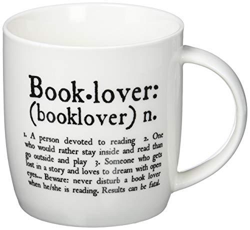 Legami Aphorism Buongiorno Mug Book Lover, Bone China, Multicolore, 9x9x8 cm