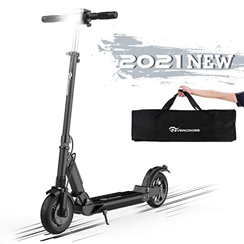"Elektro Scooter 8\"" Elektroroller E-Scooter Elektroscooter Faltbar City Roller Fahrzeug 350W Motor Klappbar Elektroroller Scooter Geschwindigkeit Erwachsene bis 30km/h LCD-Display Tragbar (black)"