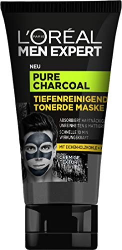 L'Oréal Men Expert Pure Charcoal Tiefenreinigende Tonerde Maske, 50 ml