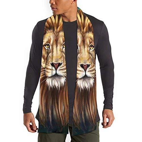JONINOT Brown Lion Face Tierkopf Galaxy Schal für Frauen Männer Leichte Unisex Frühling Herbst Winter Schals Schal Wraps