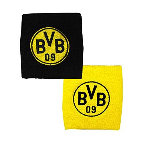 Borussia Dortmund Unisex– Erwachsene BVB-Schweißband (2er-Set) Tuch, schwarzgelb, one Size