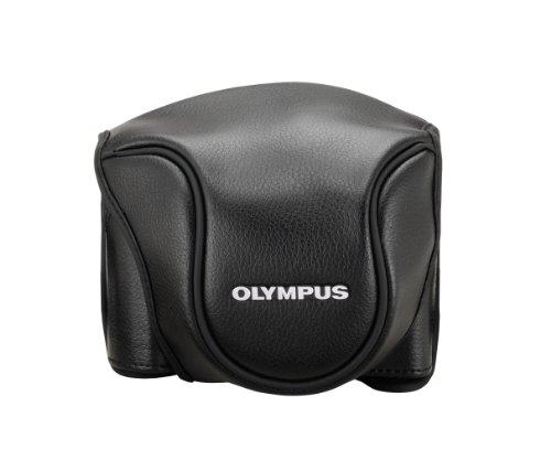 Olympus V600079BW000 Ledertasche CSCH-118 für Stylus 1 in schwarz