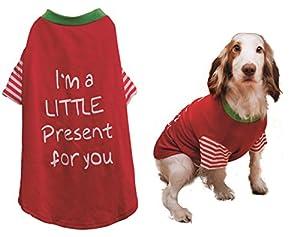Bois de Rose de Noël pour chien T-shirt,