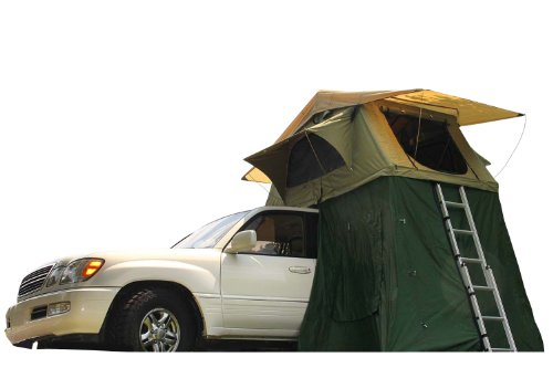 Camco Vehicle Roof Top Tent with Annex, Sleeps Up To Three, Includes High Density Matress, Easily Mounts to Most Factory or Aftermarket Roof Racks/Bars (51373)