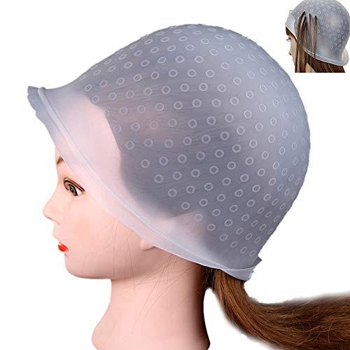 Nuluxi Wiederverwendbare Silikon Haar Kappe Silikon Kappe mit Haken Haare Färben Silikon Kappe Wiederverwendbar und Leicht zu Reinigen Haarfärbemittel Werkzeug Geeignet für den Salon und Heimgebrauch